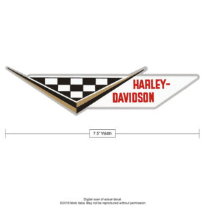 Harley Davidson Sprint racing decal